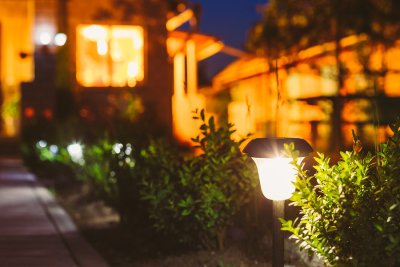 Outdoor LED lighting by Wright Lighting and Fireside in San Jose